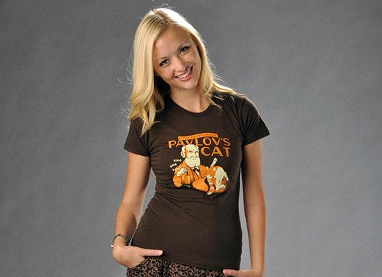 Pavlov's Cat on Juniors T-Shirt