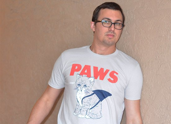Paws on Mens T-Shirt