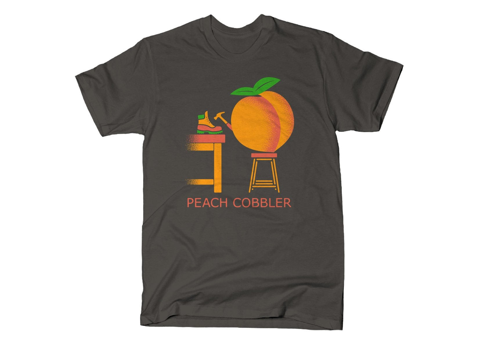 Peach Cobbler on Mens T-Shirt