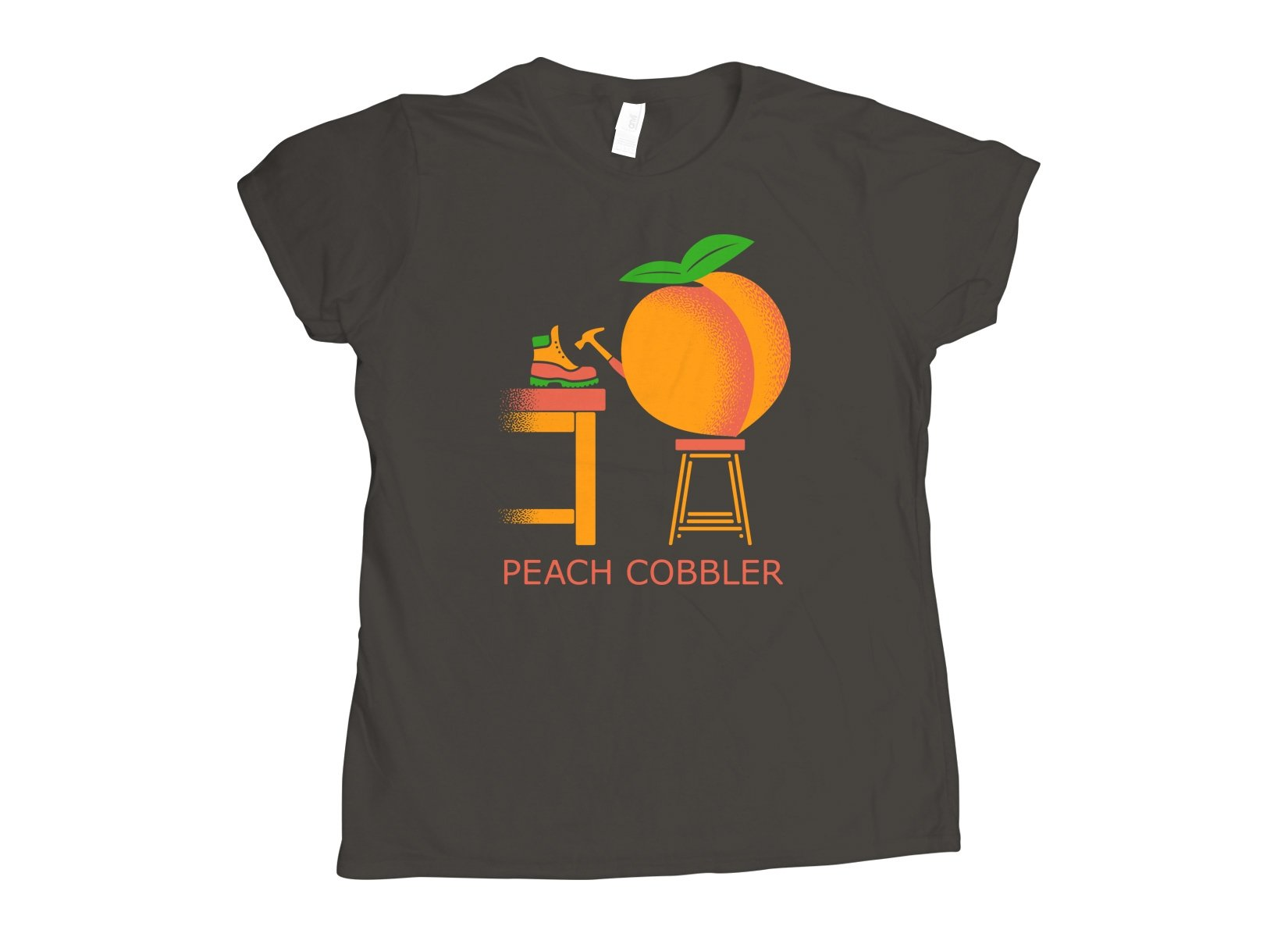 Peach Cobbler on Womens T-Shirt