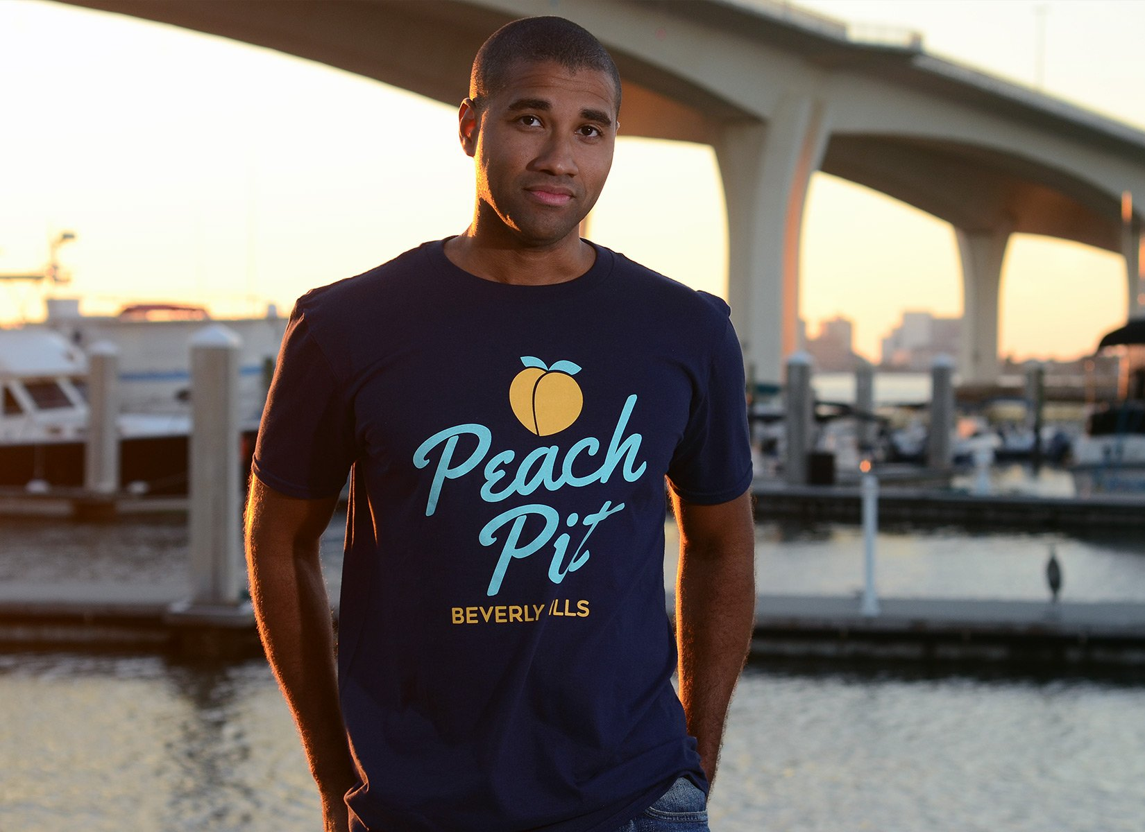Peach Pit on Mens T-Shirt