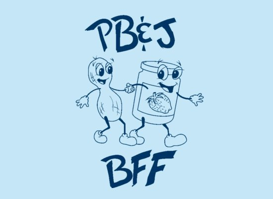 Peanut Butter And Jelly - BFF on Mens T-Shirt