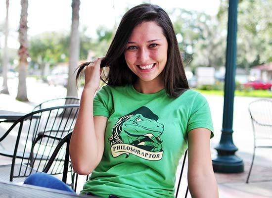 Philosoraptor on Juniors T-Shirt