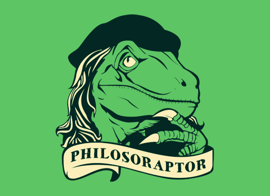Philosoraptor on Mens T-Shirt