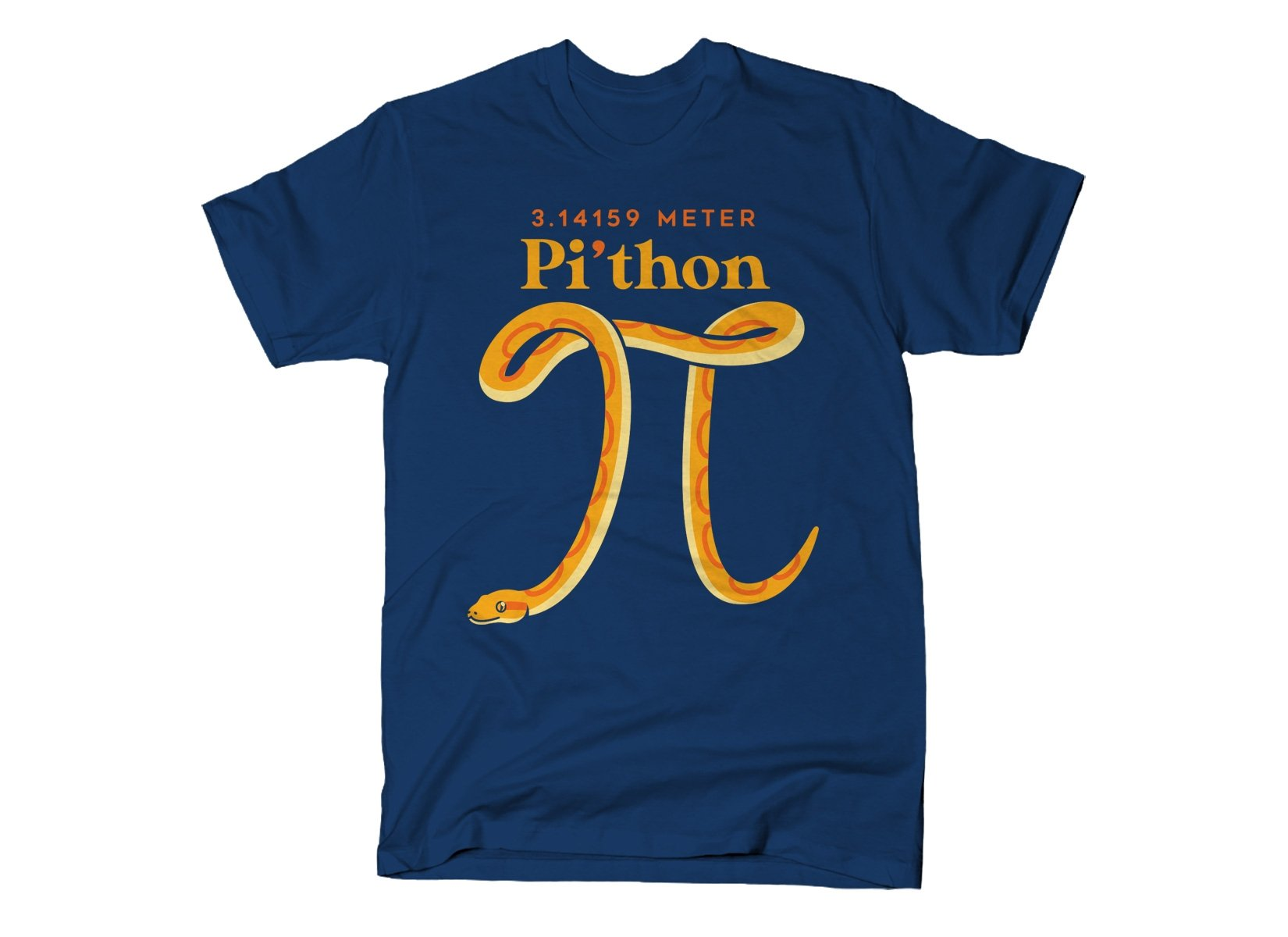 Pi-thon on Mens T-Shirt