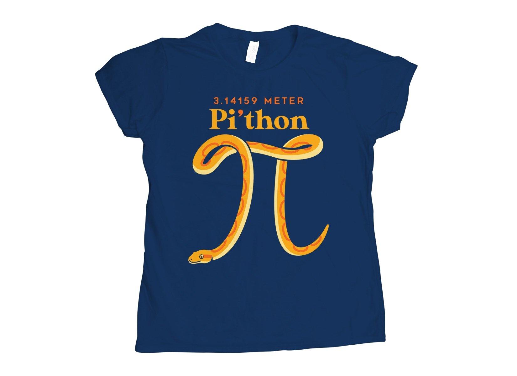 Pi-thon on Womens T-Shirt