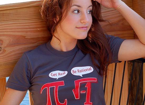 Pi Be Rational on Juniors T-Shirt