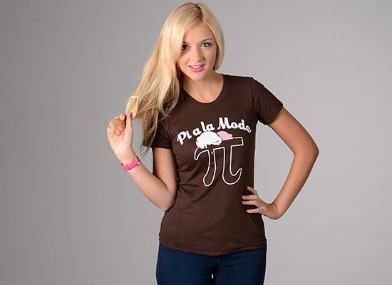Pi a la Mode on Juniors T-Shirt