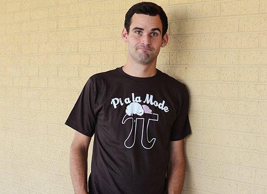Pi a la Mode on Mens T-Shirt