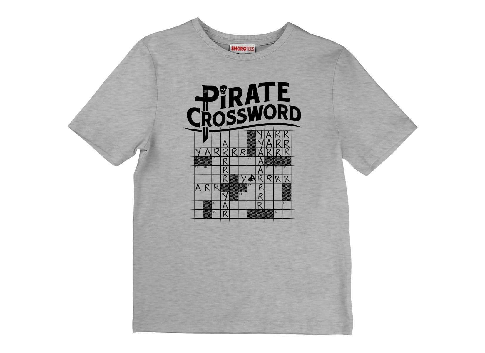 Pirate Crossword on Kids T-Shirt