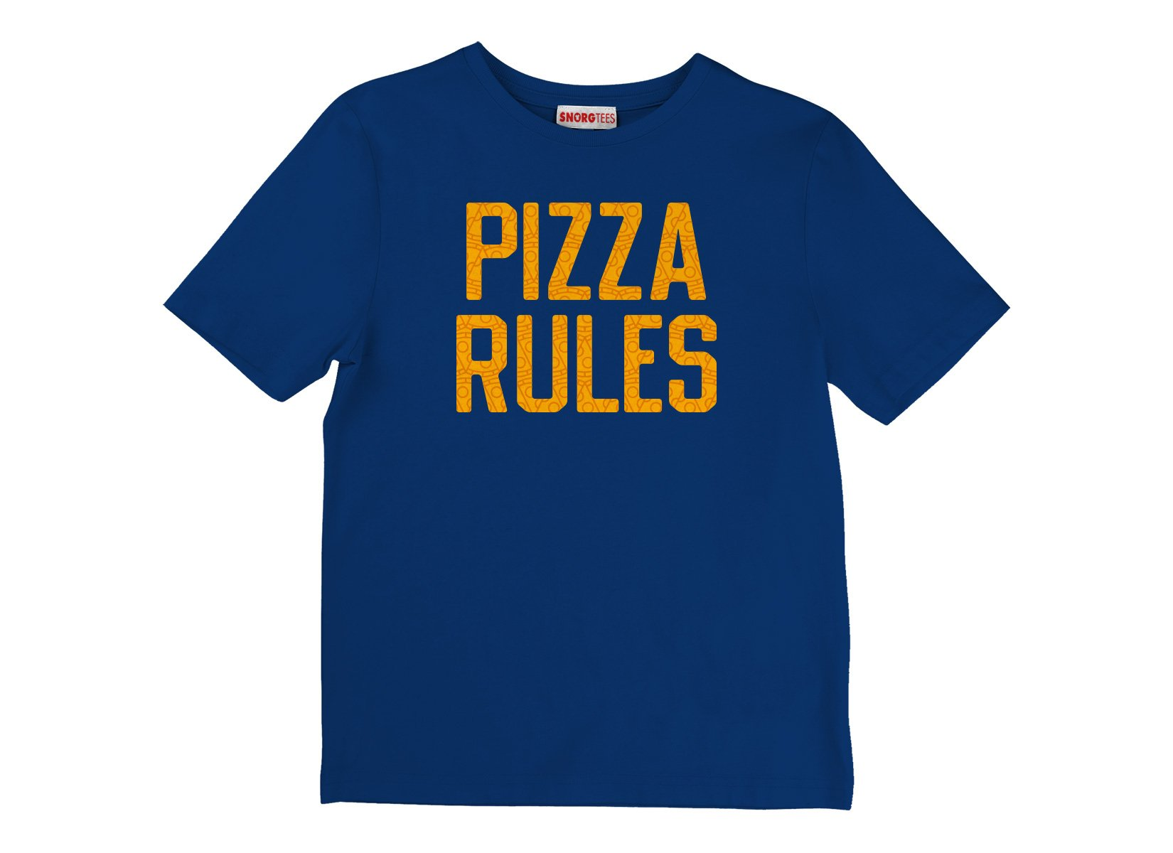 Pizza Rules on Kids T-Shirt