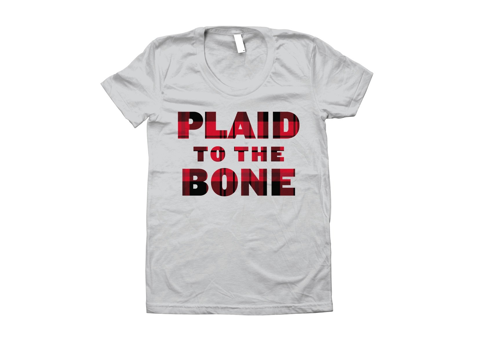 Plaid To The Bone on Juniors T-Shirt