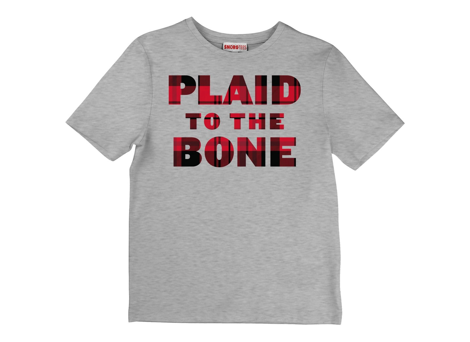 Plaid To The Bone on Kids T-Shirt