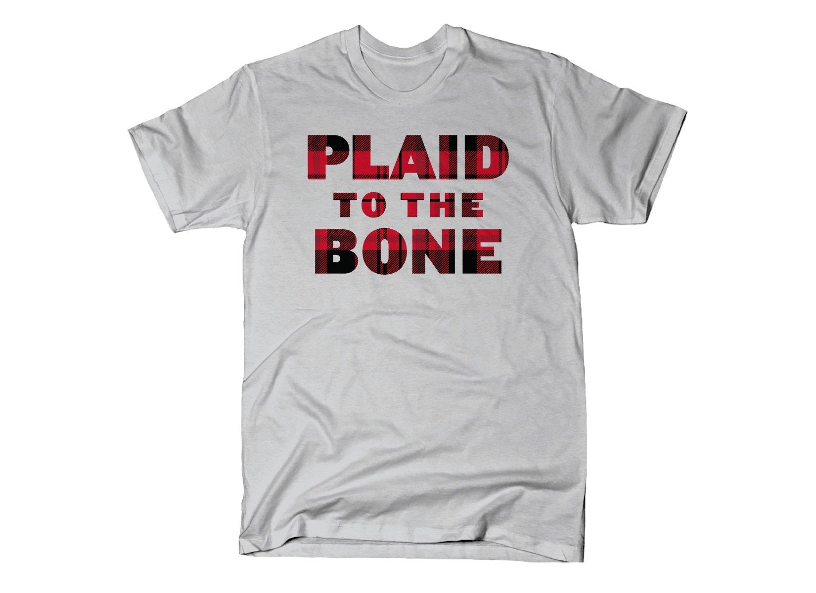 Plaid To The Bone on Mens T-Shirt
