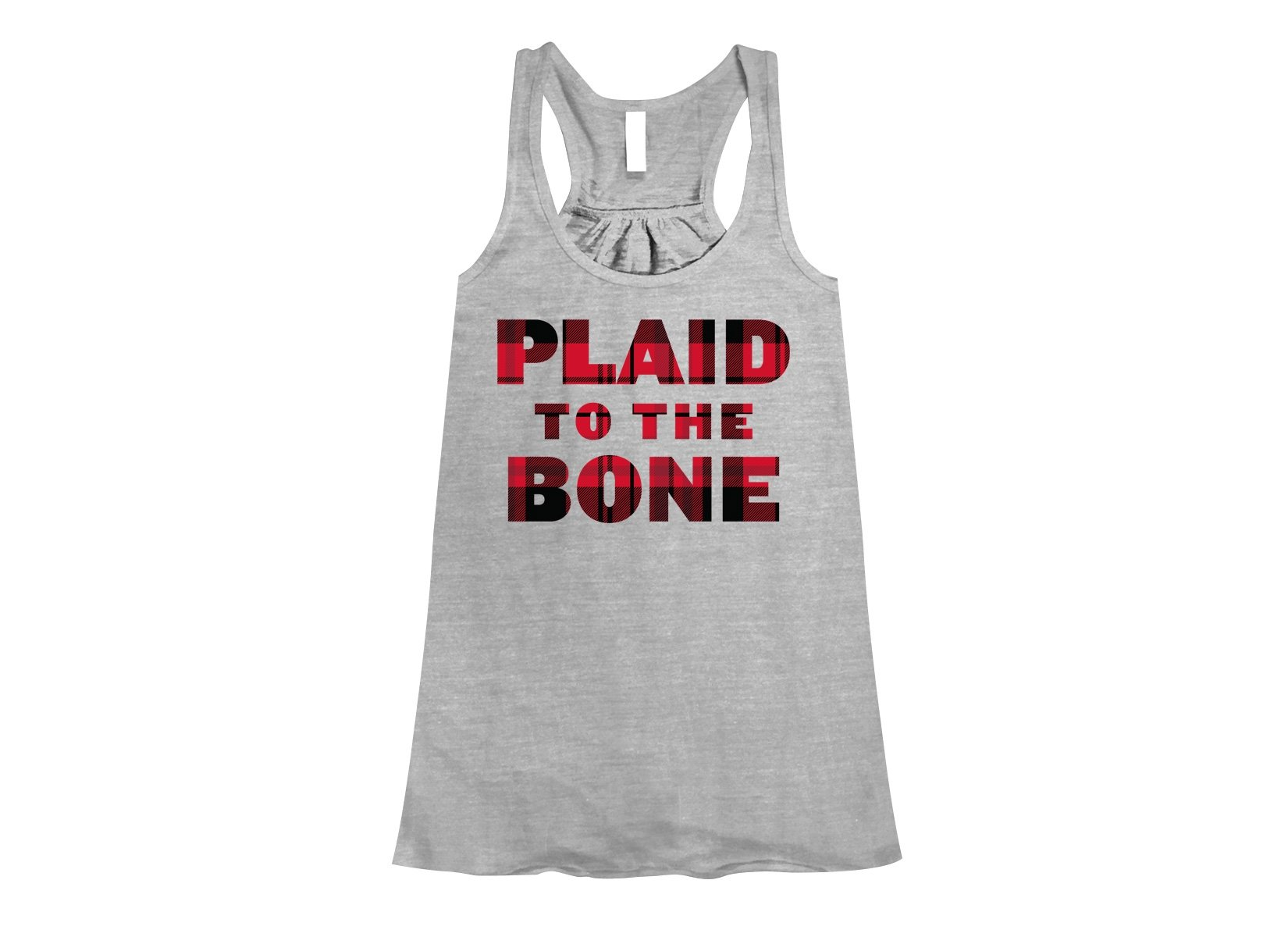 Plaid To The Bone on Womens Tanks T-Shirt