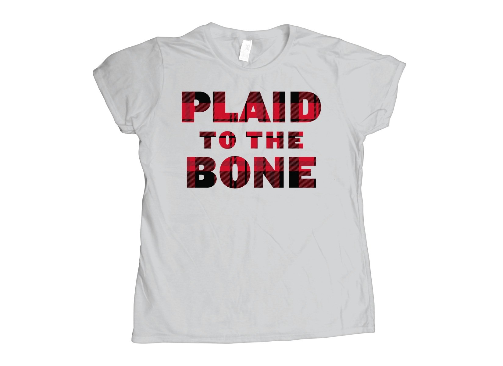 Plaid To The Bone on Womens T-Shirt