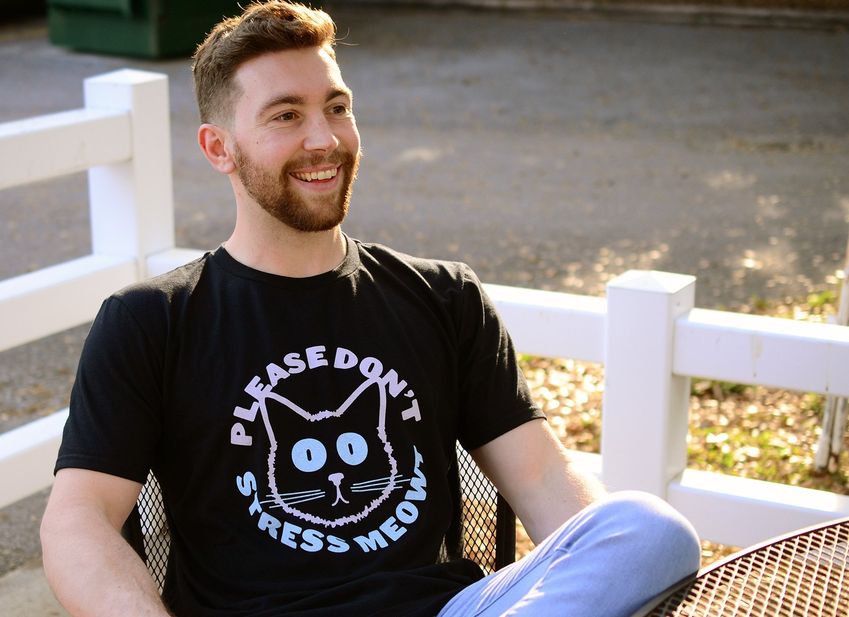 Please Don't Stress Meowt on Mens T-Shirt