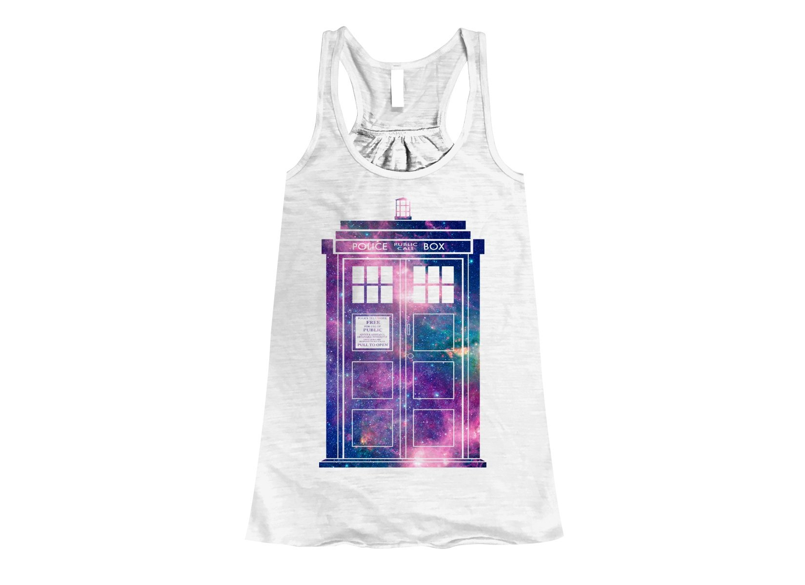 Police Box on Womens Tanks T-Shirt