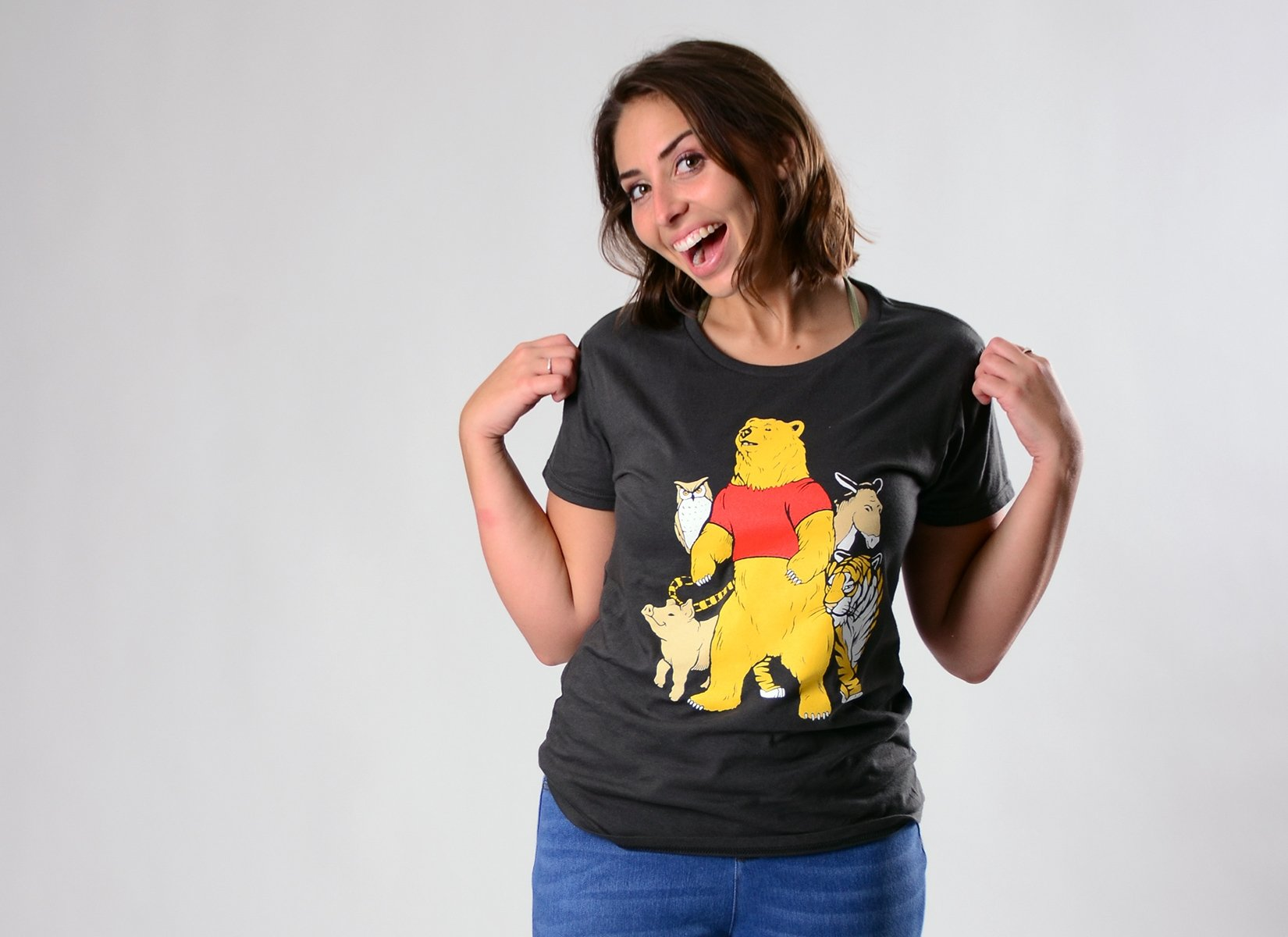 Bear And Friends on Womens T-Shirt