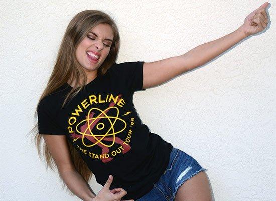 Powerline on Juniors T-Shirt
