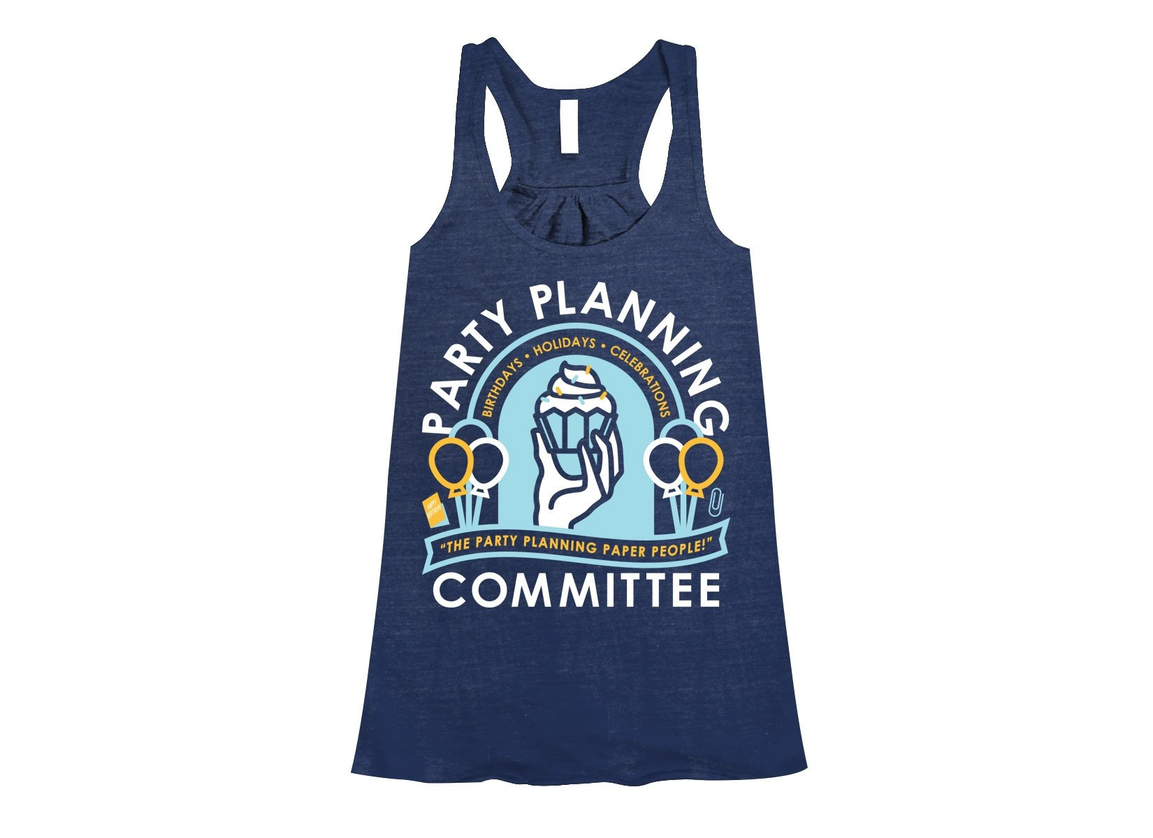 Party Planning Committee on Womens Tanks T-Shirt