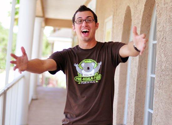 You're Pre-Koala-Fied For A Hug on Mens T-Shirt