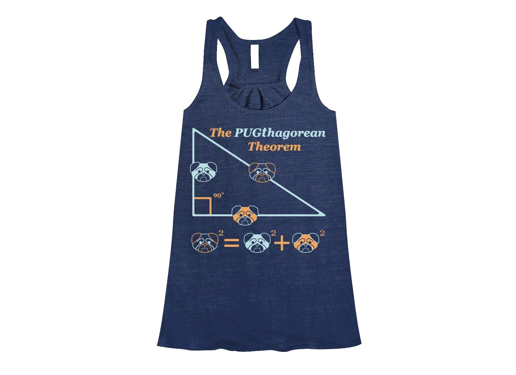Pugthagorean Theorem on Womens Tanks T-Shirt