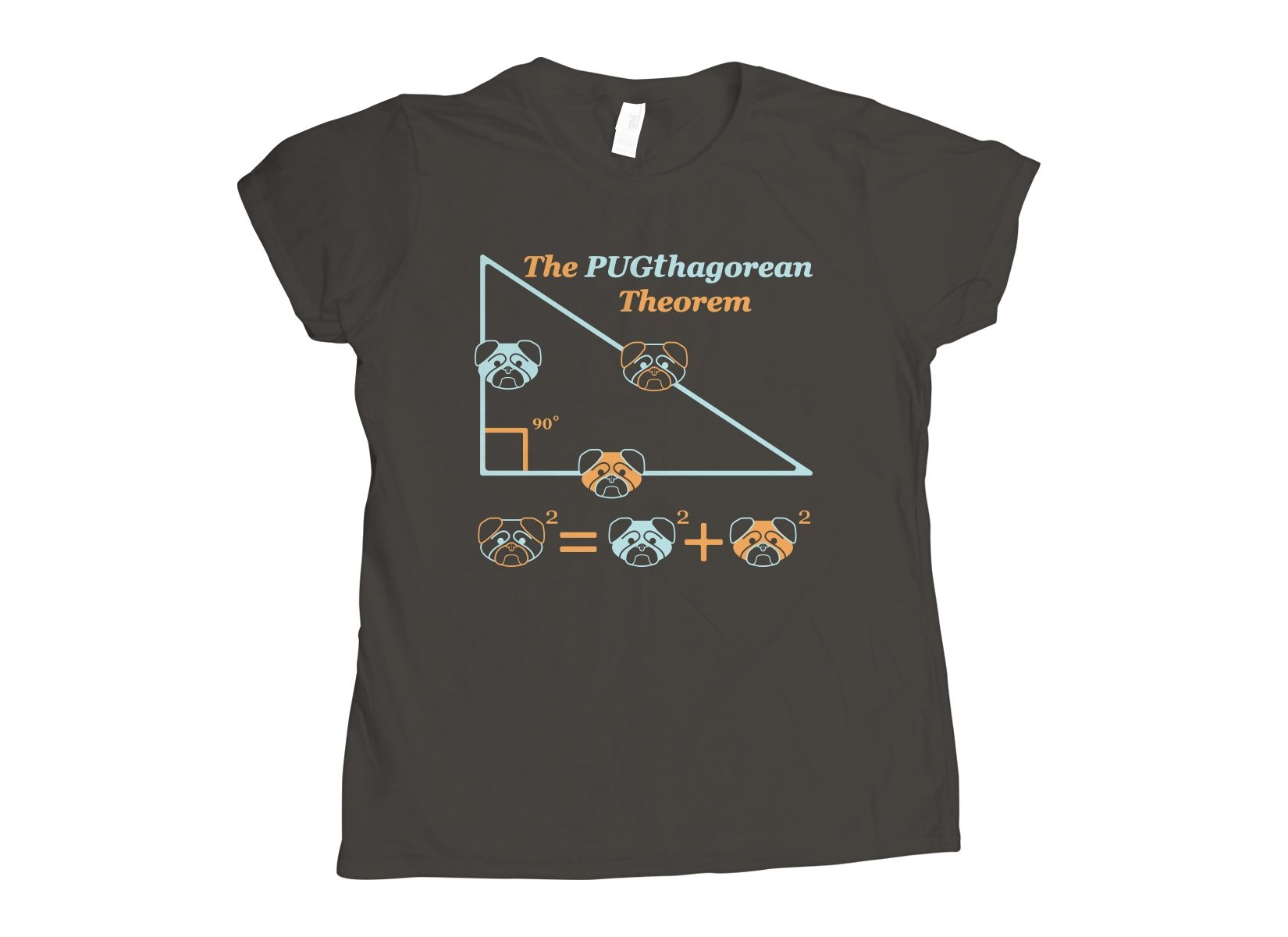 Pugthagorean Theorem on Womens T-Shirt