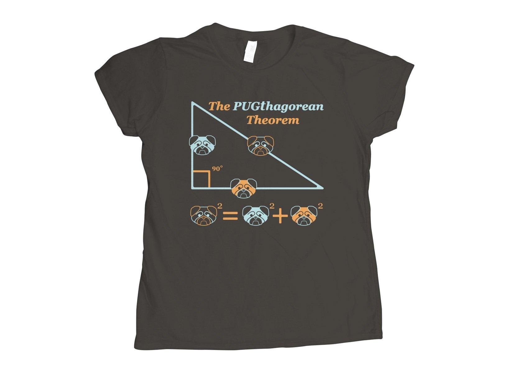 Pugthagorean Theorem on Womens T-Shirt
