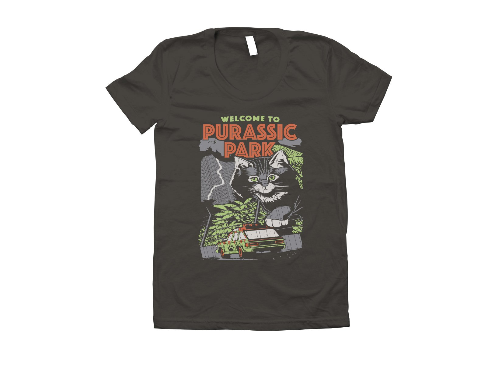 Purassic Park on Juniors T-Shirt