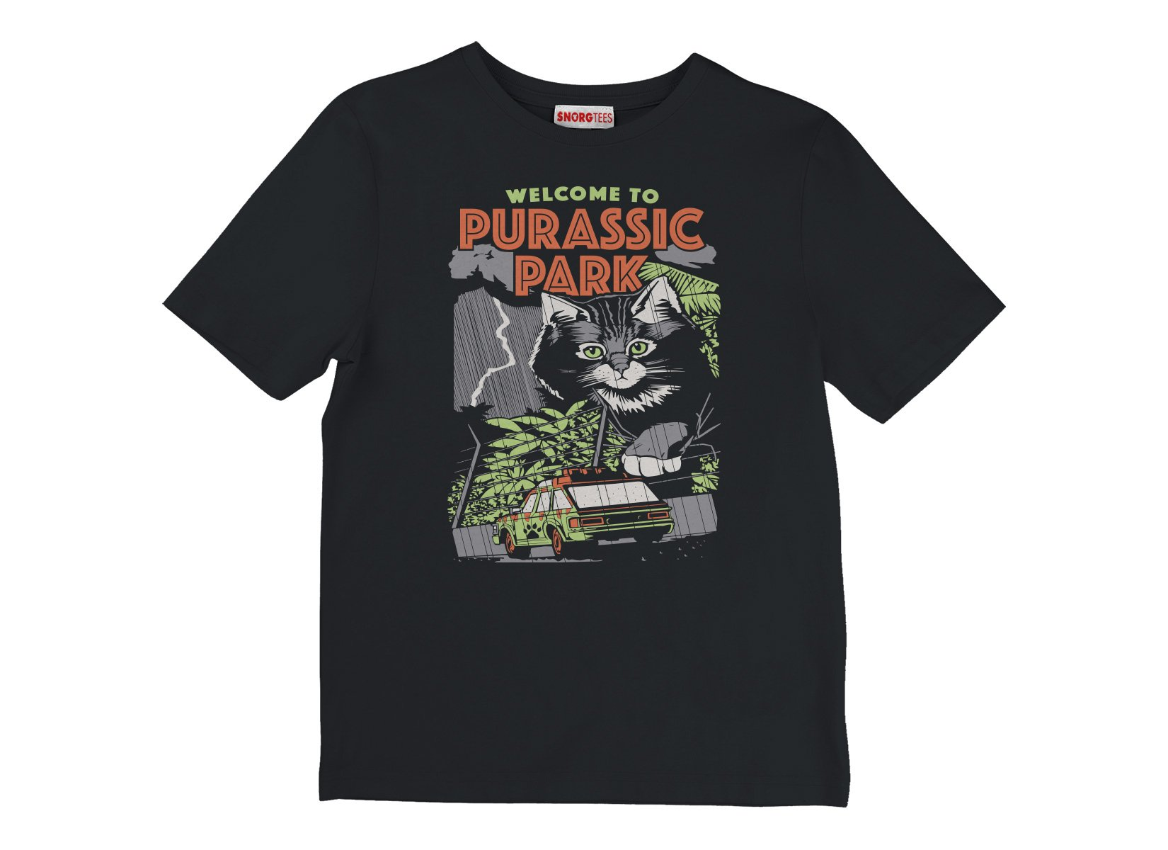Purassic Park on Kids T-Shirt