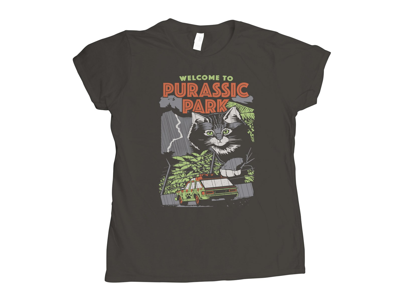 Purassic Park on Womens T-Shirt