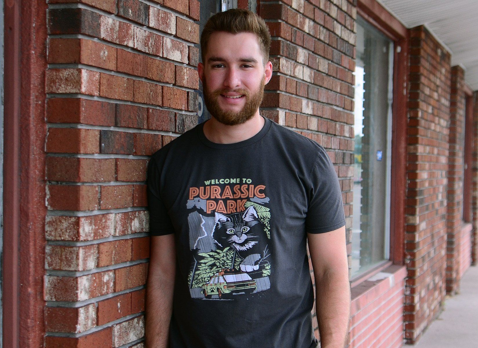 Purassic Park on Mens T-Shirt