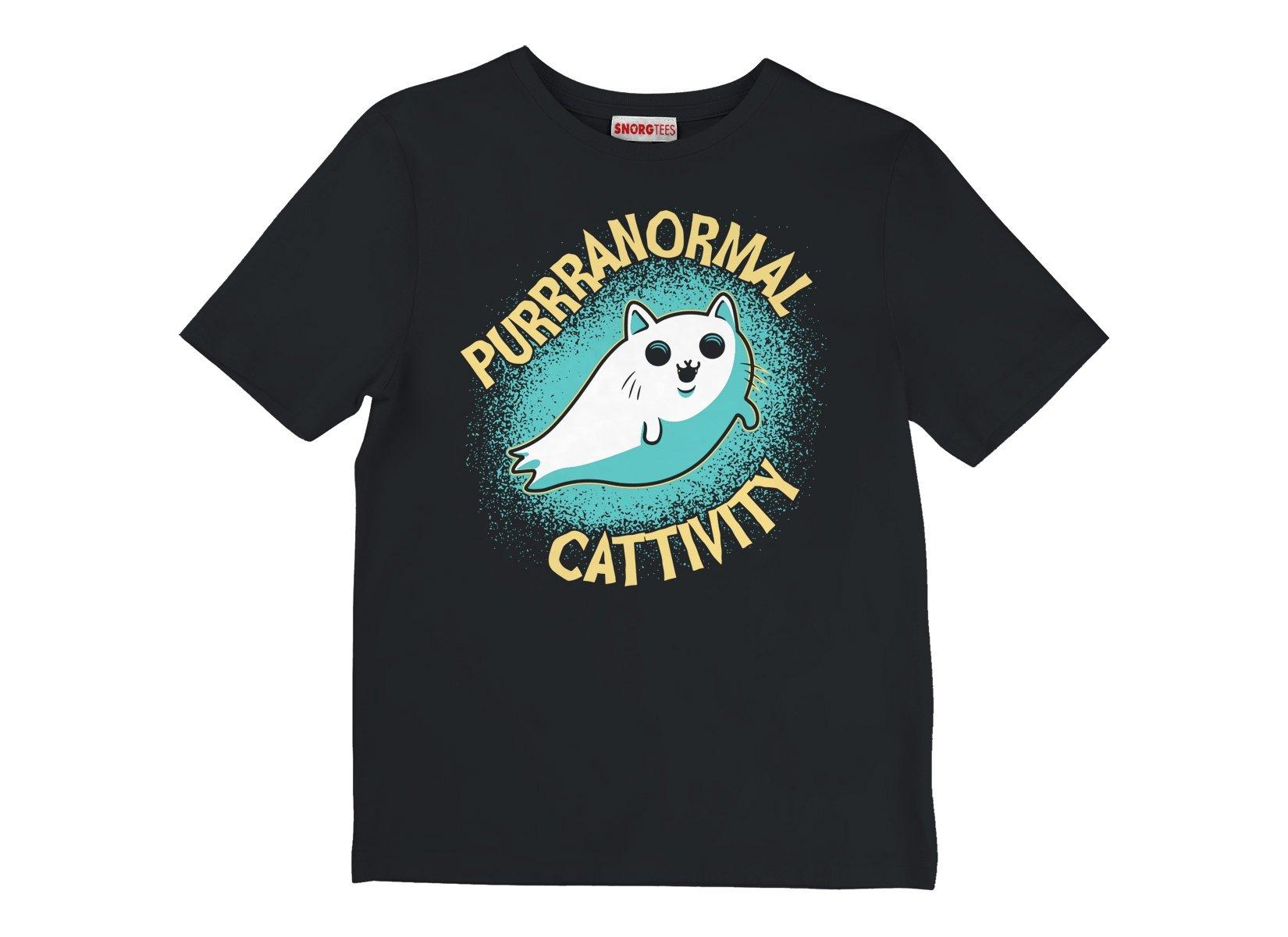 Purrranormal Cattivity on Kids T-Shirt