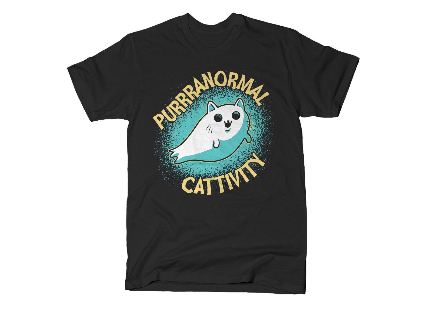 Purrranormal Cattivity on Mens T-Shirt