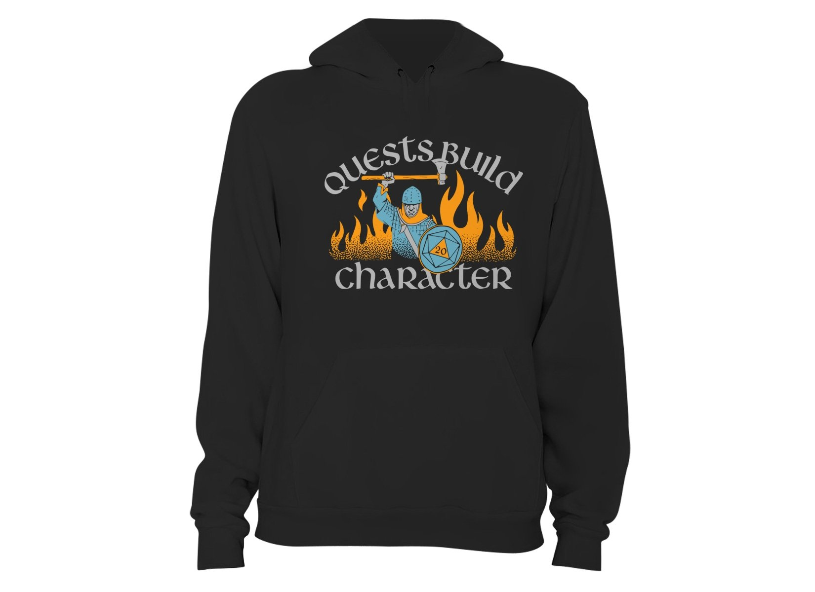 Quests Build Character on Hoodie