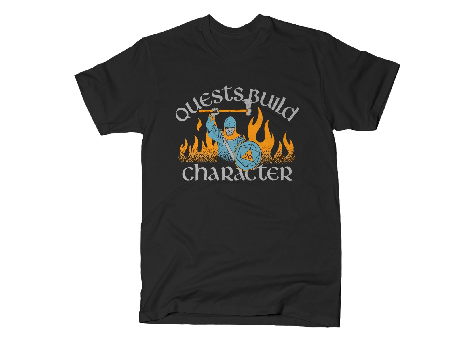 Quests Build Character on Mens T-Shirt
