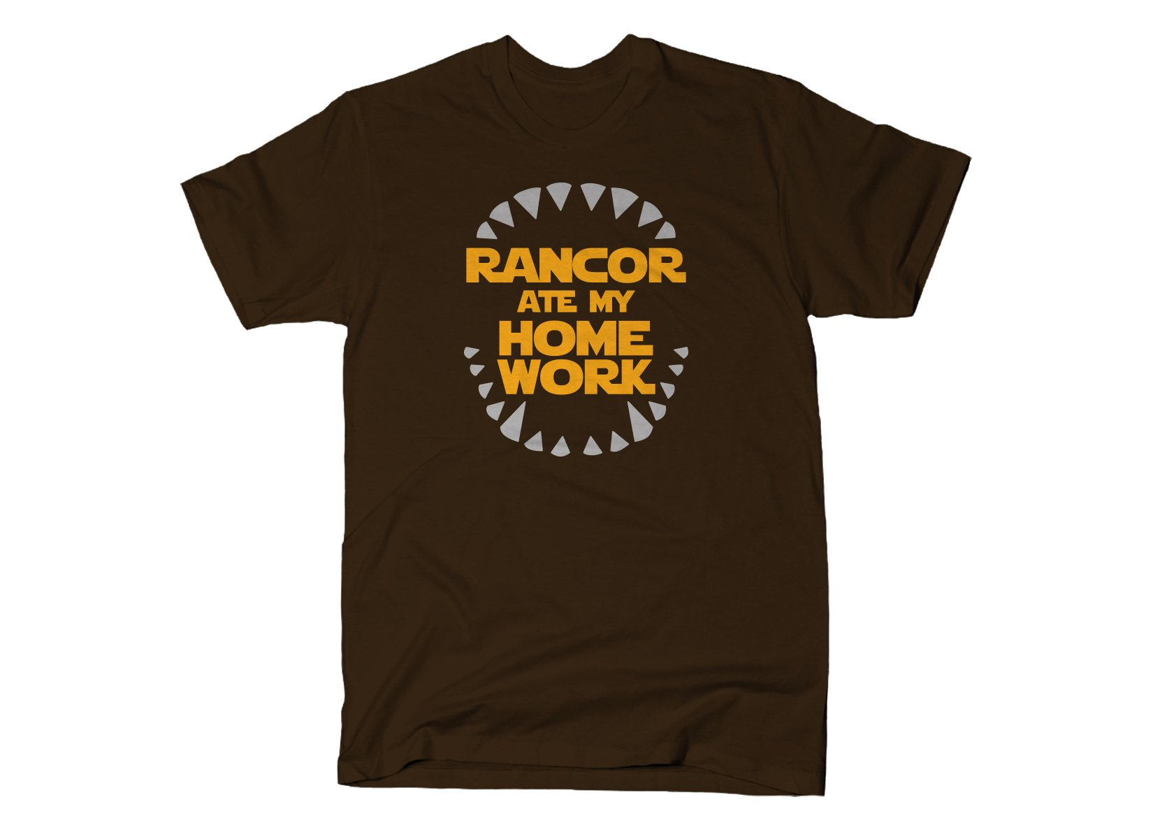 Rancor Ate My Homework on Mens T-Shirt