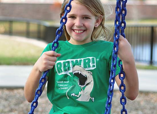 RAWR Means I Love You on Kids T-Shirt