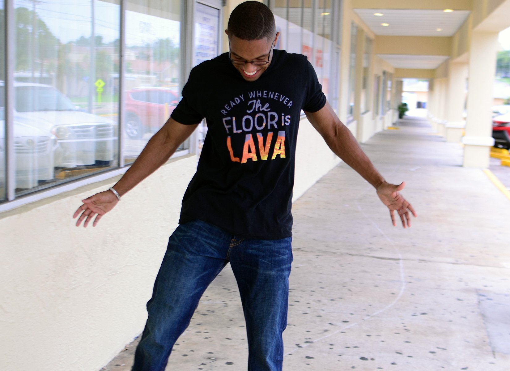 The Floor Is Lava on Mens T-Shirt