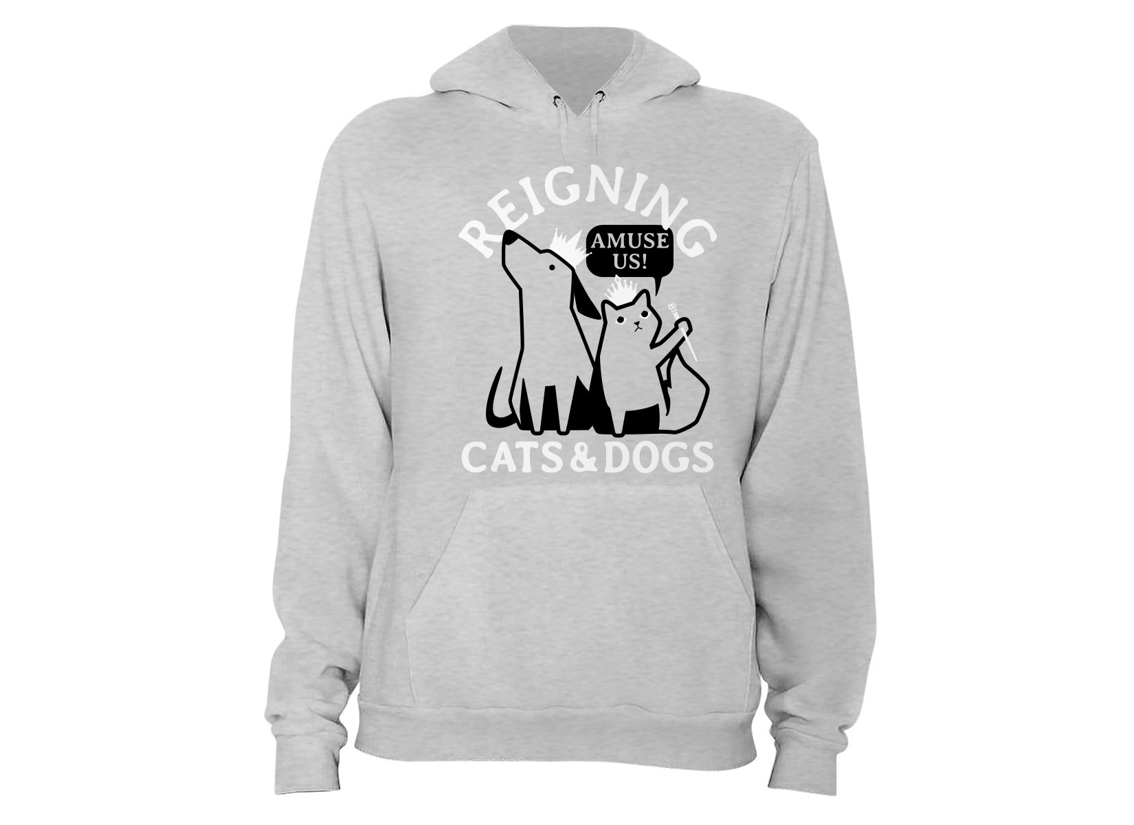 Reigning Cats And Dogs on Hoodie
