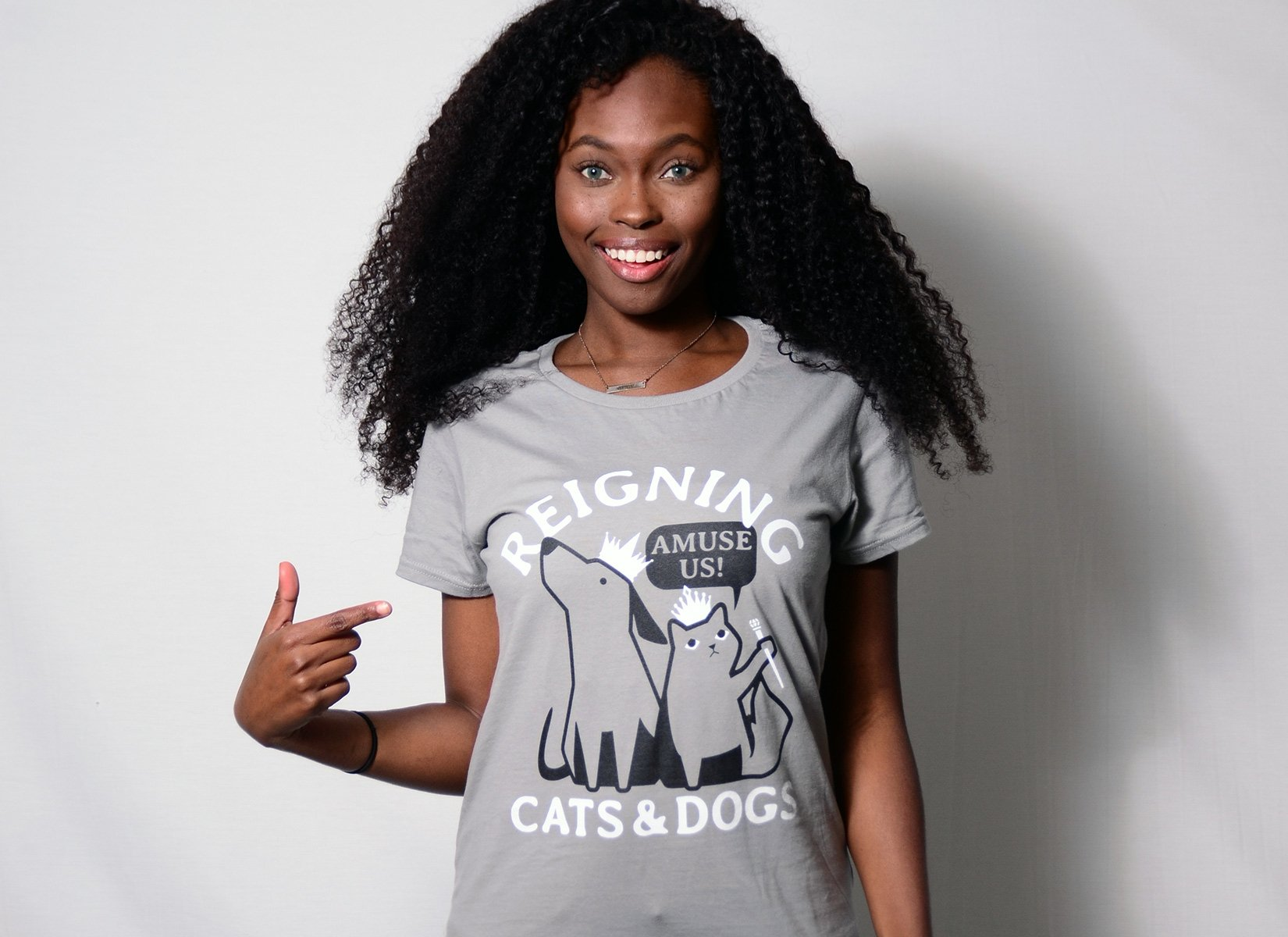 Reigning Cats And Dogs on Womens T-Shirt