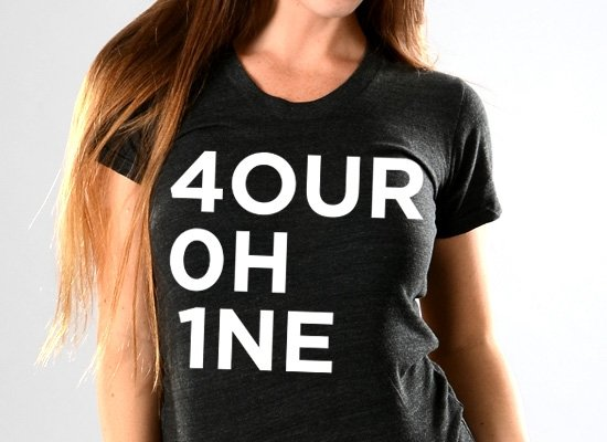 RI 4our 0h 1ne on Juniors T-Shirt