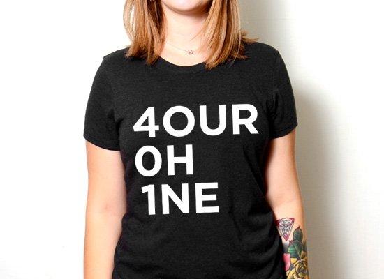 RI 4our 0h 1ne on Womens T-Shirt