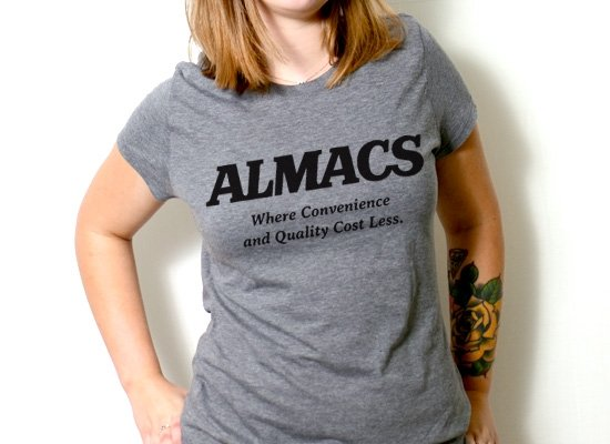RI Almacs on Womens T-Shirt