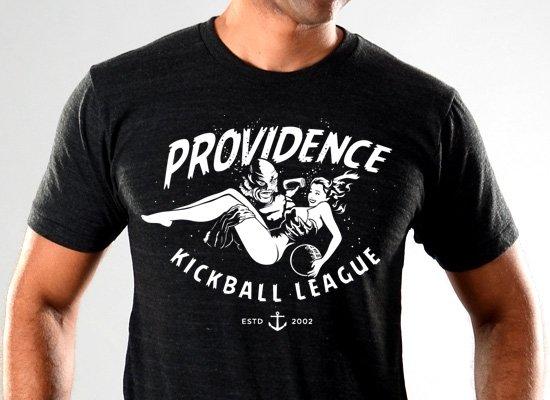 Fish Providence Kickball on Mens T-Shirt