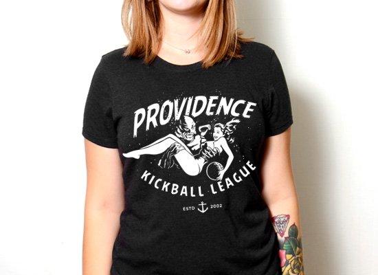 Fish Providence Kickball on Womens T-Shirt