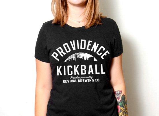 Horizon Providence Kickball on Womens T-Shirt
