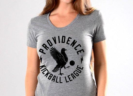 Pigeon Providence Kickball on Juniors T-Shirt