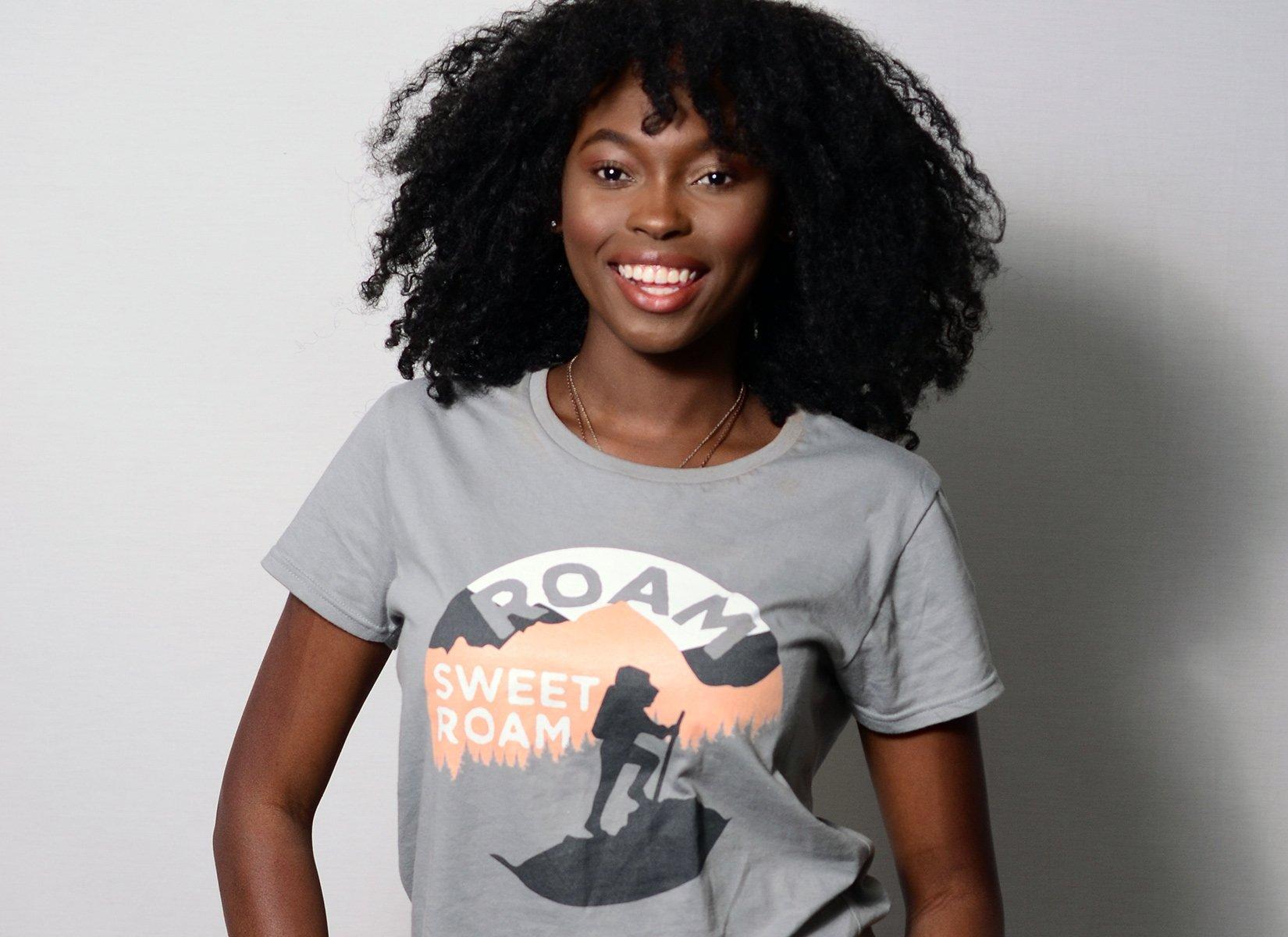 Roam Sweet Roam on Womens T-Shirt
